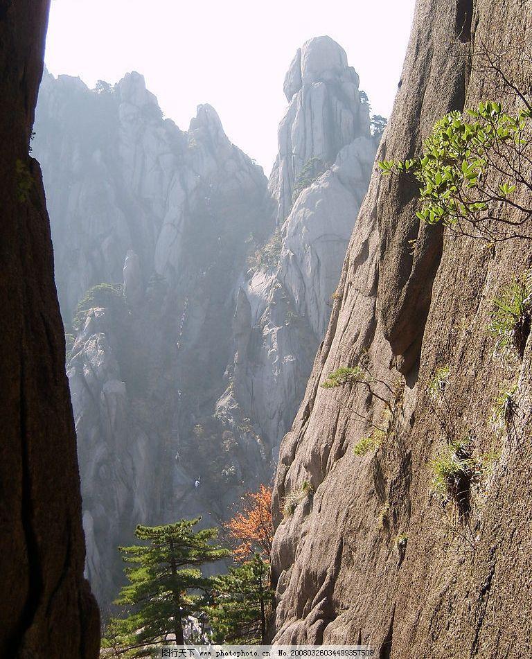 山水风景 山 岩石 秋天 中国名山 名山大川 黄山 摄影图库 自拍作品