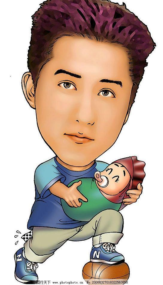 动漫动画 动漫人物 手绘明星面孔 设计图库 300 jpg
