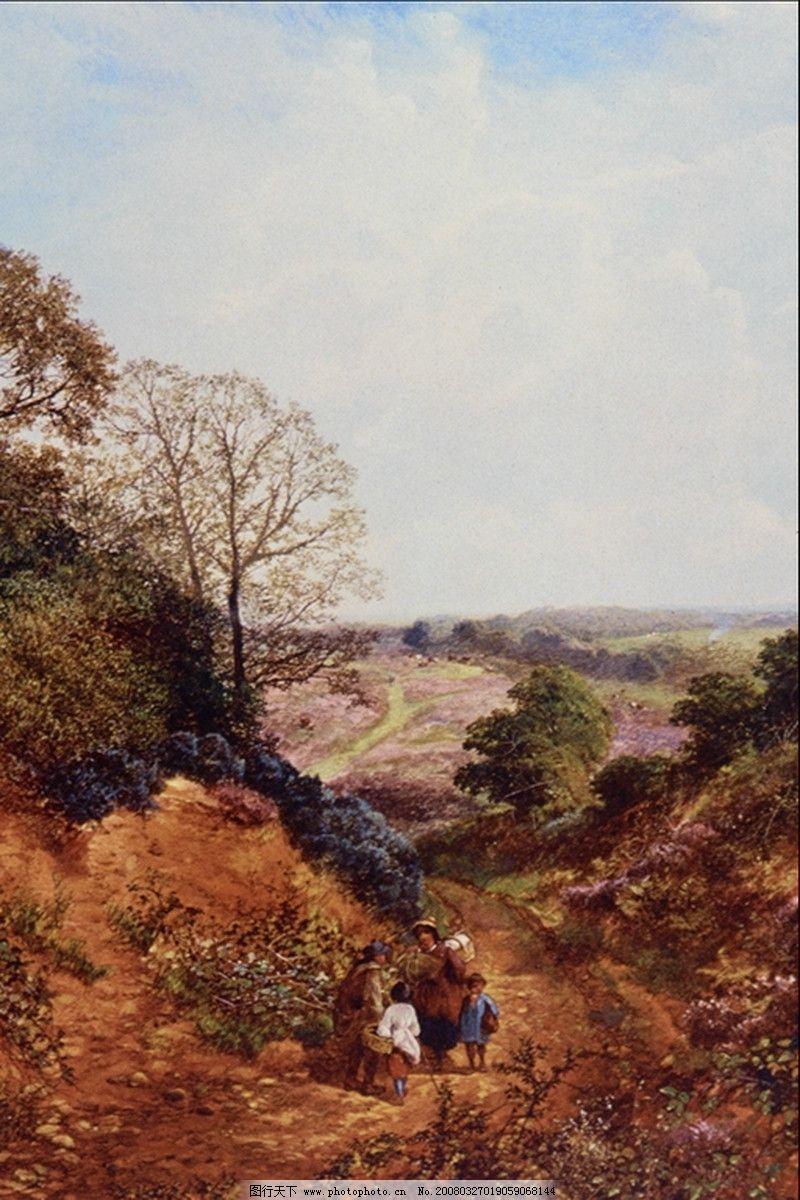 国外传世名画 风景油画