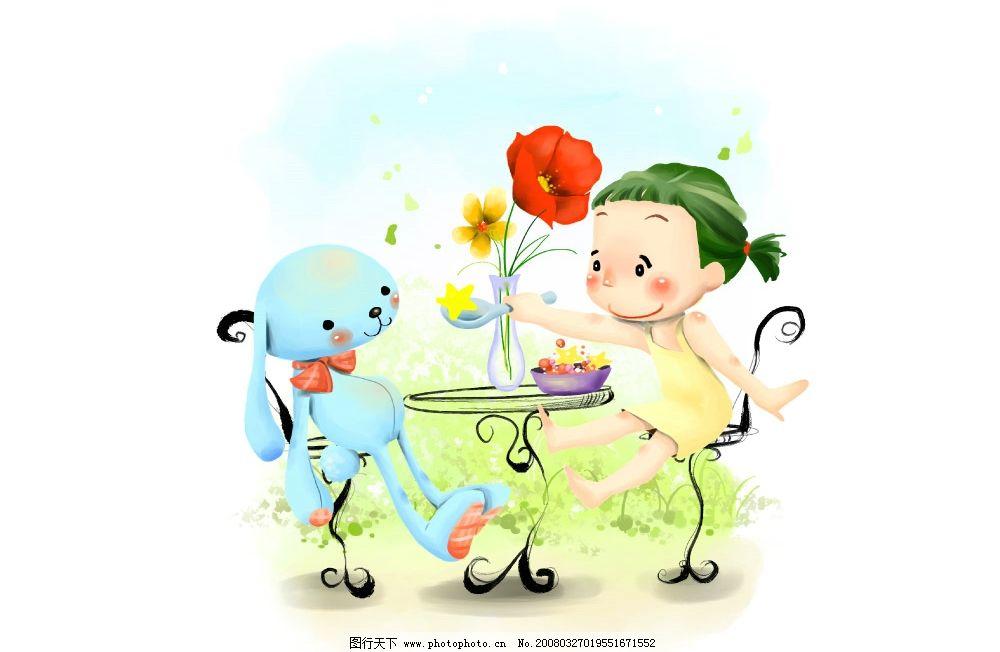 儿时向往 彩绘人物 童话 手绘 插画 人物 童趣 节日素材 其他 源文件