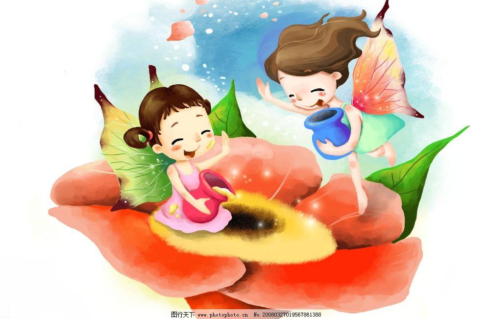 蝴蝶梦想 彩绘人物 童话 手绘 插画 人物 童趣 节日素材 其他 源文件
