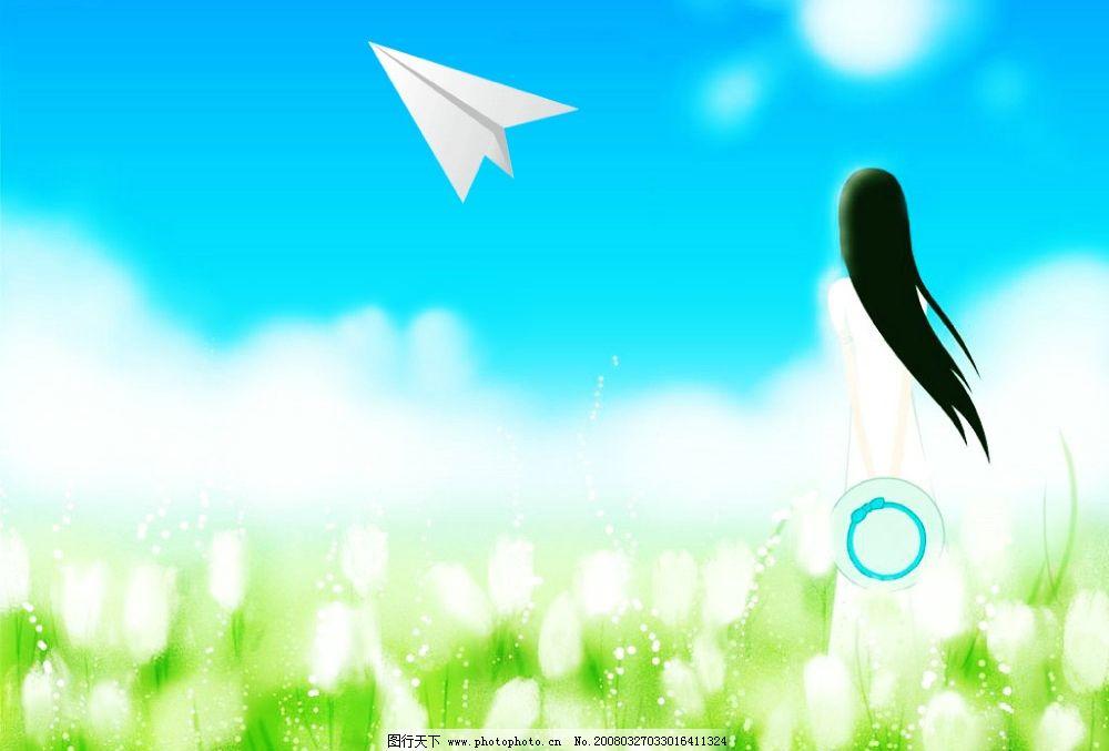 梦里的纸飞机图片
