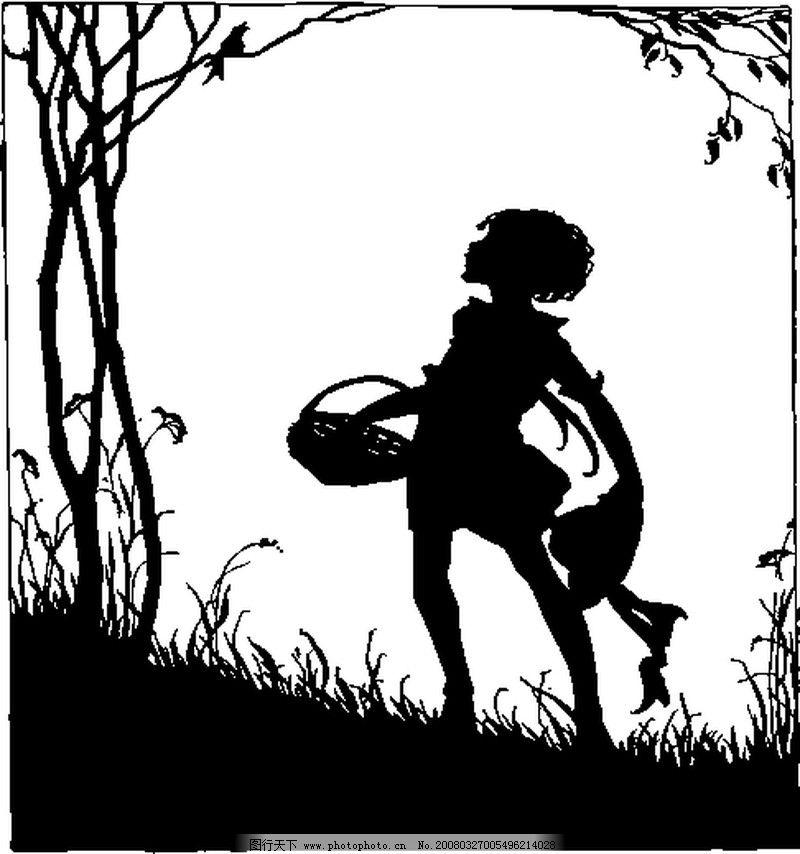 小鸟的影子 手绘黑色