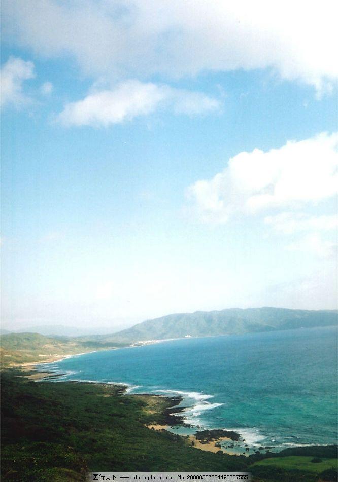 海滩蓝天图片_山水风景_自然景观_图行天下图库