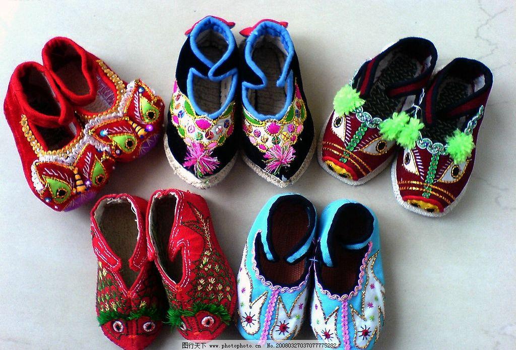 绣花鞋 工艺品 鞋子 生活素材 摄影图库