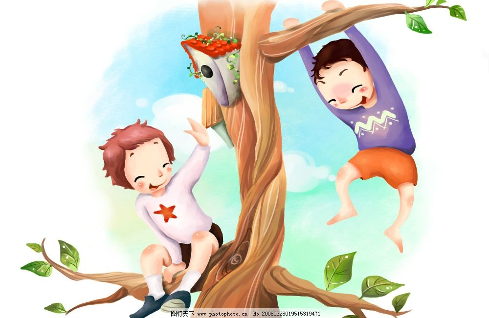 遥望未来 彩绘人物 童话 手绘 插画 童趣 节日素材 源文件库