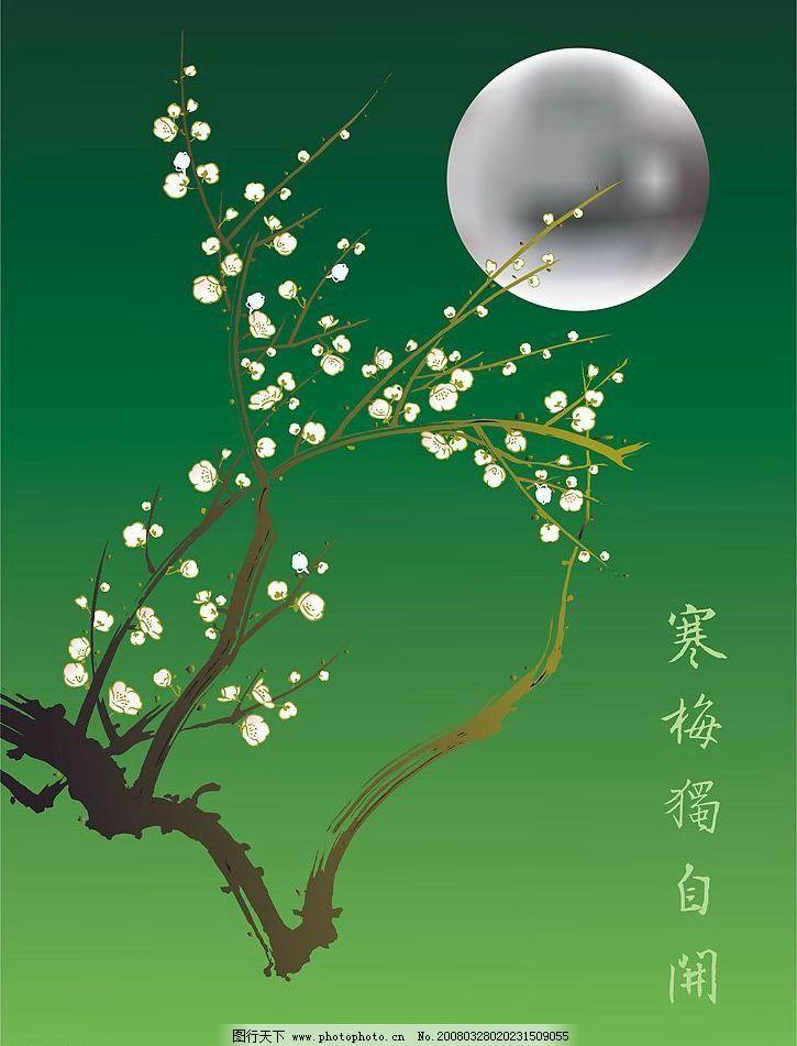 月亮边框花纹简单漂亮