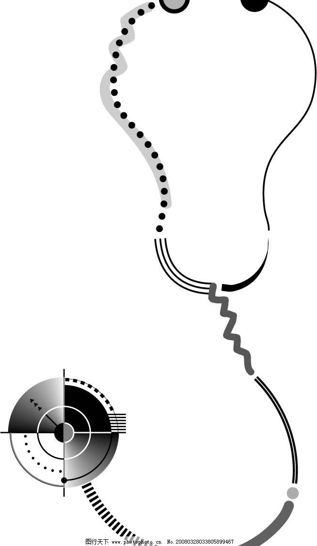 听诊器 医疗器械 其他矢量 矢量素材 矢量图库