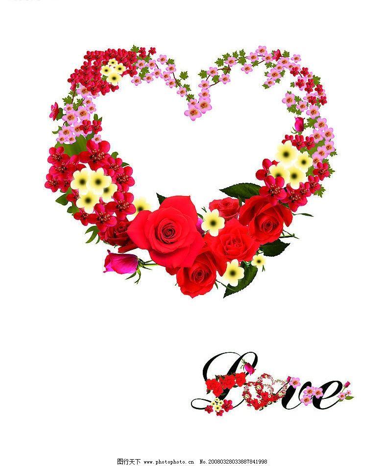 心型玫瑰花圈 花圈 花 玫瑰花 其他 图片素材 设计图库 70 jpg