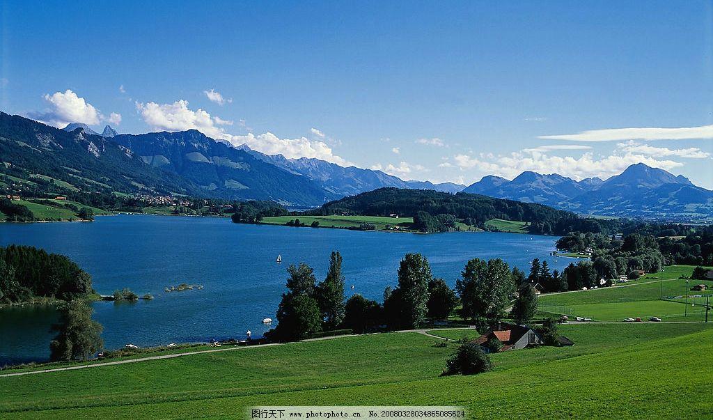 湖泊 湖泊 绿地 水 树 山水 自然风景 美丽湖泊 自然景观 自然风景