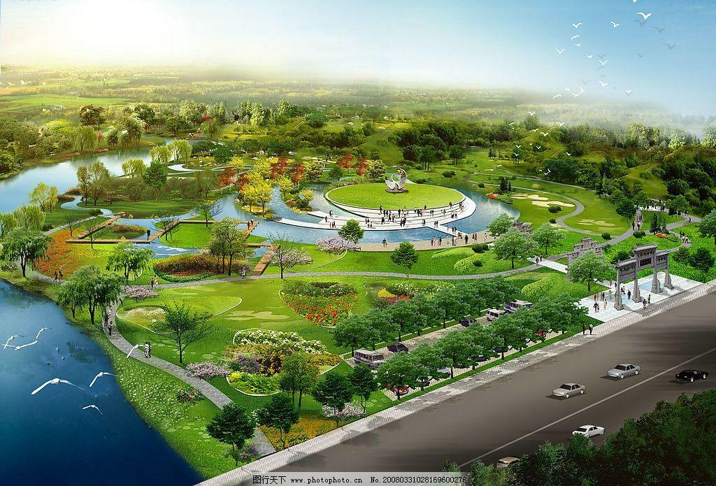 滨河公园 景观 环境设计 景观设计 设计图库 72 jpg